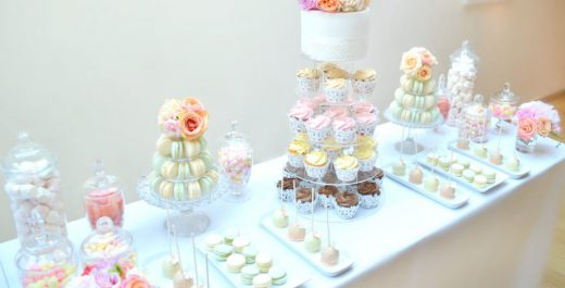 Coral-Peach-and-Pink-Summer-Wedding-Flowers-and-Wedding-Cupcakes-Tower-Macarons-Tower-Cake-Table-in-Burgh-House-Cherie-Kelly-London-4-1024x763