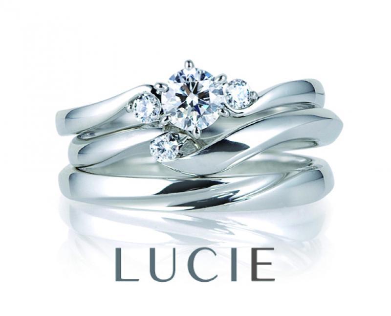 「LUCIE」オートクチュールをイメージしてつくられたブランドです。ripple(リップル)はとどまることのない波のように2人に幸せが訪れるようにということを表現。